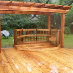 2x6 Cedar Decking Pergola